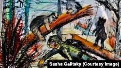 Работа одного из учеников Саши Галицкого
