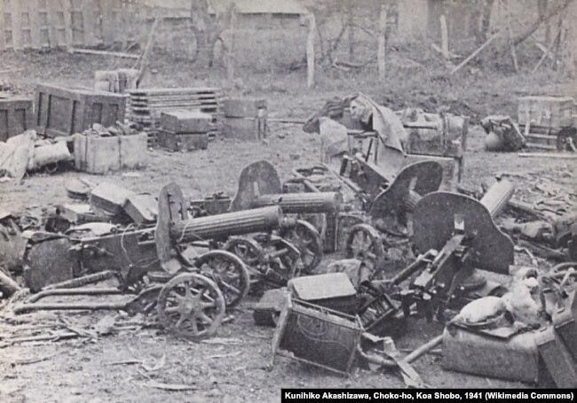 Захваченные советские пулеметы