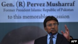 Former Pakistani president and military ruler, Pervez Musharraf.
