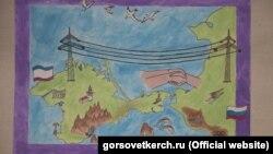 Выставка рисунков «Свет в родном доме» в городском центре детского и юношеского творчества. Керчь