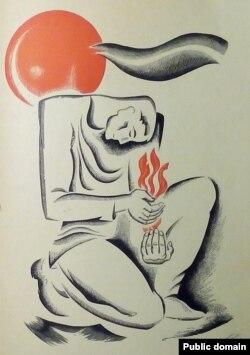 Малюнак Ю. Зайцава да кнігі Канстанцыі Буйло «У бляску зор» (1968)