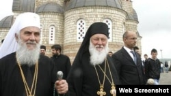 Patrijarh Irinej (levo) i vladika Filaret