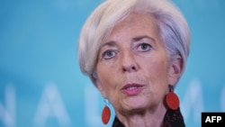 IMF Managing Director Christine Lagarde said the social and economic cost of Ukraine's crisis has been high.