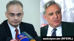 Armenia -- Opposition politicians Levon Zurabian (L) and Vartan Oskanian.