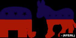 Символи республіканцв та демократів