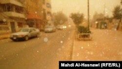 عاصفة ترابية في الناصرية - من ارشيف الاذاعة