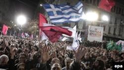 საბერძნეთში არჩევნების შედეგებს ზეიმობენ