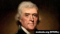 """Рэмбрандт Піл, """"Партрэт Томаса Джэфэрсана, трэцяга прэзыдэнта ЗША"""" .1800 год."""