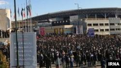Iranian students of Azad University protesting over transportation problem on Saturday December 29, 2018.