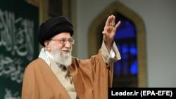 Iranian Supreme Leader Ayatollah Ali Khamenei addressed a meeting in Tehran on January 9.