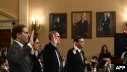 ექსპერტები ფიცს დებენ კონგრესის იურიდიული კომიტეტის სხდომაზე. 2019 წ. 4 დეკემბერი