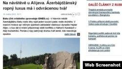 Статья на портале iDnes.cz