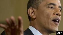 Барак Обама на пресс-конференции в Белом доме