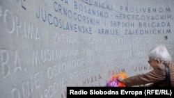 Polaganje cvijeća ispred Vječne vatre povodom 6. aprila Dana oslobođenja Sarajeva, 2014.