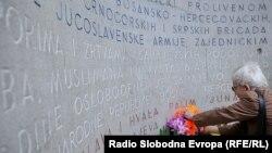 Polaganje vijenaca i cvijeća na spomen-obilježje žrtvama fašističkog terora i ratova kod Vječne vatre, Sarajevo