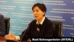 Министр труда и социальной защиты населения Казахстана Тамара Дуйсенова.