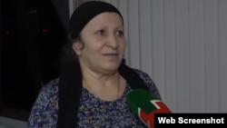 """Зина Чакаева, скриношот репортажа на ЧГТРК """"Грозный"""""""