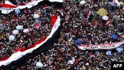 Protestues në sheshin Tahrir, Kajro