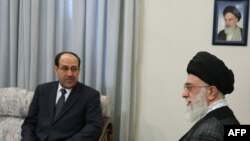 Iranian Supreme Leader Ayatollah Ali Khamenei met with incumbent Iraqi Prime Minister Nuri al-Maliki in Tehran on October 18.