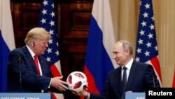 Встреча Трампа и Путина в Хельсинки (архивное фото)