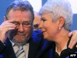 Vladimir Šeks sa bivšom premijerkom Hrvatske Jadrankom Kosor