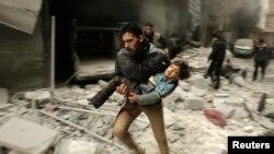 Алеппо шаарынан бир көрүнүш. 21-январь, 2014-жыл.