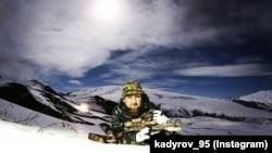 Рамзан Кадыров со снайперской винтовкой