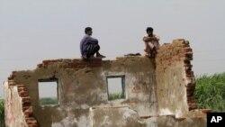 Пәкістанның су тасқыны болған Бадин ауданы. 18 қыркүйек. 2011