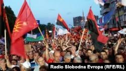 Македония премьер-министрі Никола Груевскиді қолдаған акция. Скопье, 18 мамыр 2015 жыл.