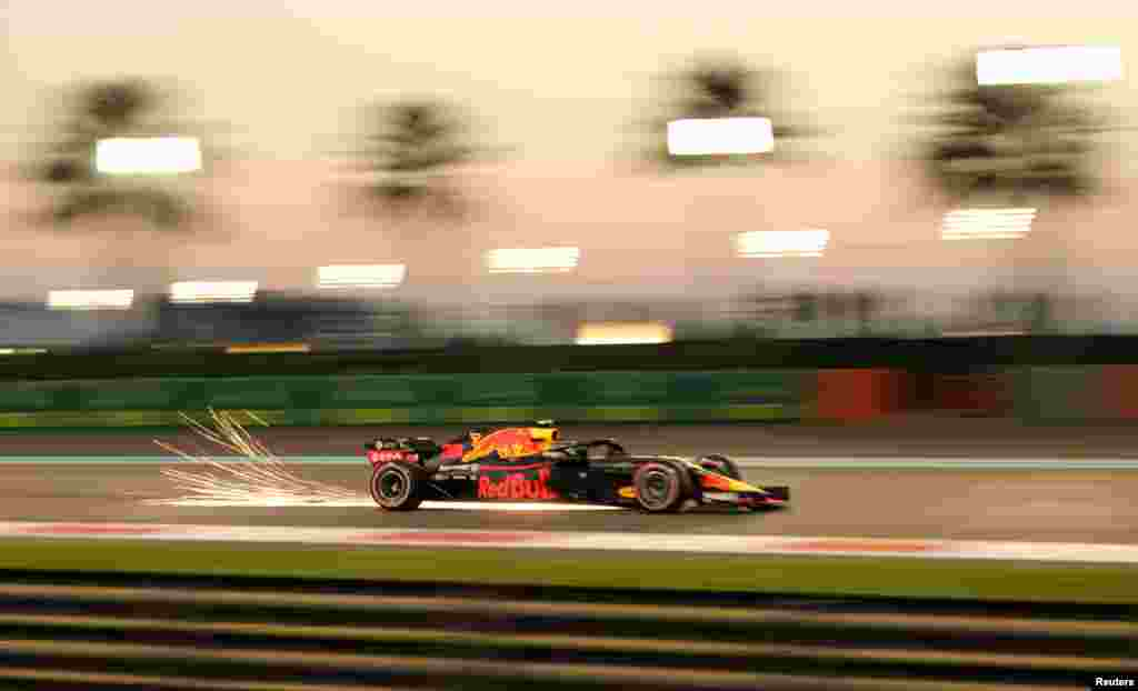 Red Bull's Max Verstappen during practice before the Abu Dhabi Grand Prix on November 23. (Reuters/Ahmed Jadallah)