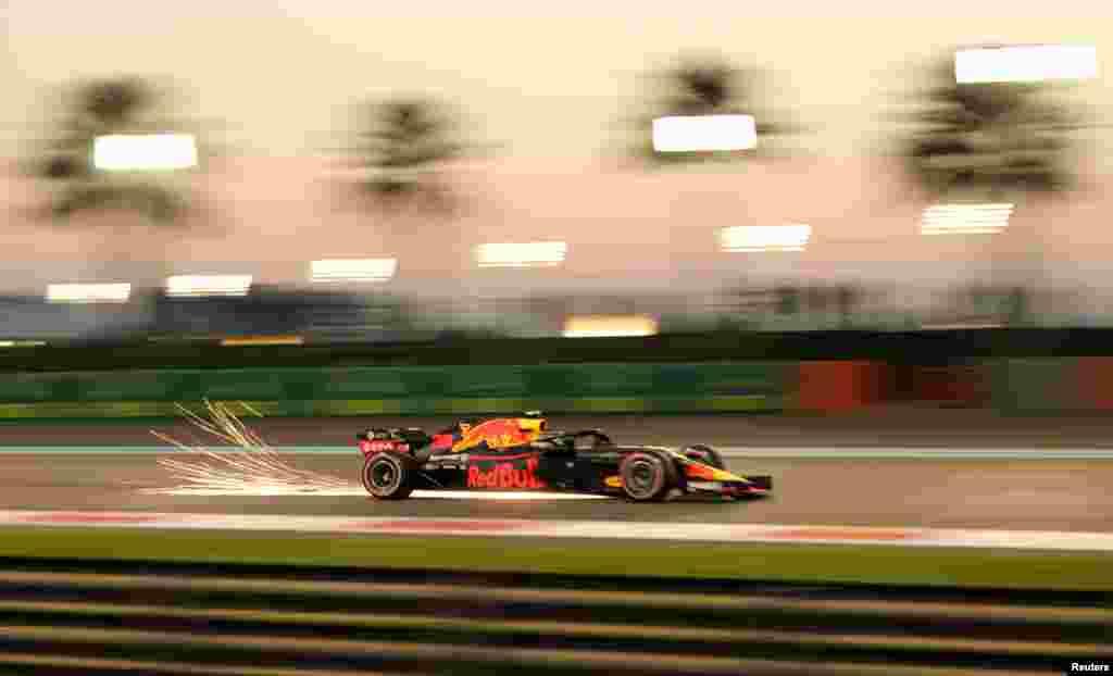 Red Bull's Max Verstappen during practice before the Abu Dhabi Grand Prix on November 23. (Reuters/Ahmed Jadallah)