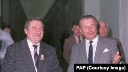 Лех Валенса и Чеслав Кищак