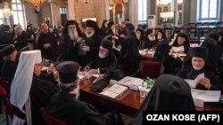 Вселенский патриархат во время Синакса, на котором обсуждали автокефалию для Украины. Стамбул, 1 сентября 2018 года