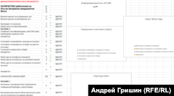 Скриншот опросника, выданный бюджетникам Магадана