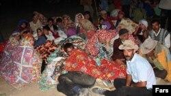 Люди, лишившиеся домов в провинции Восточный Азербайджан