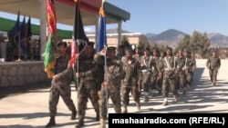 FILE: An Afghan National Army parade in Khost.