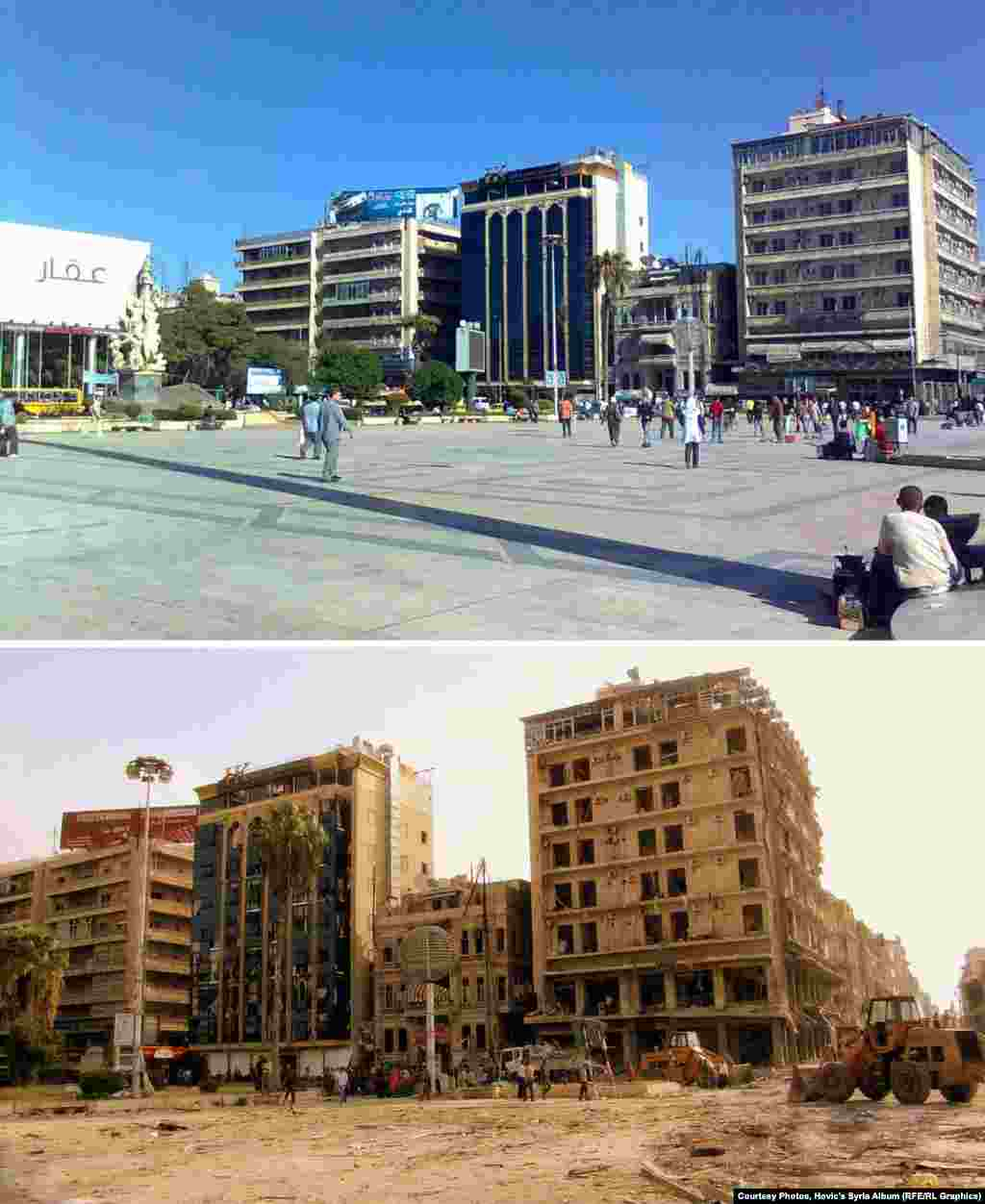 The formerly bustling Saadallah al-Jabiri Square