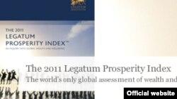 Legatum Institute ұйымының Prosperity Index 2011 есебі. Көрнекі сурет.