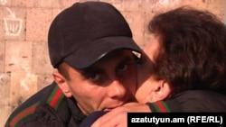 Armenia -- Opposition supporter Felix Grigorian is released from prison, Yerevan, 09Dec2010