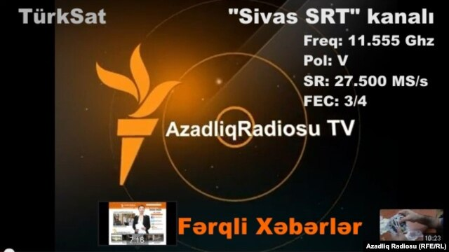Azerbaijan -- AzadliqRadiosuTV anouncement
