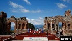 """Саммит """"Группы семи"""" проходит в сицилийском городе Таормина. Италия, 27 мая 2017 года."""