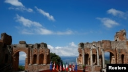 """Саммит """"Группы семи"""" проходит в сицилийском городе Таормина (Италия, 27 мая 2017 г.)"""