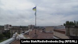 Соғыстан кейінгі Славянск қаласы. Украина, 7 шілде 2014 жыл.
