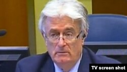 Radovan Karadzic in The Hague on June 11