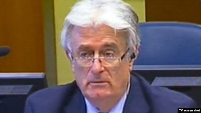 Former Bosnian Serb leader Radovan Karadzic in The Hague