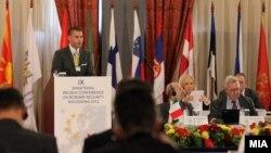 Словенечкиот амбасадор во Република Македонија Алан Брајан Бергант на министерска конференција за граничната безбедност во ЈИЕ