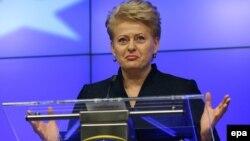 Presidentja e Lituanisë, Dalia Grybauskaite (Arkiv)