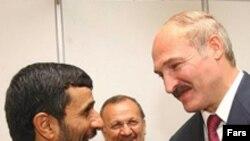 Прэзыдэнт Ірану Махмуд Ахмадзінэджад іАляксандар Лукашэнка