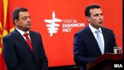 Прес конференција на премиерот Зоран Заев и вицепремиерот Кочо Анѓушев. 14.09.2017