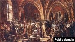 Заседание первого Сейма Польши. 1182 год